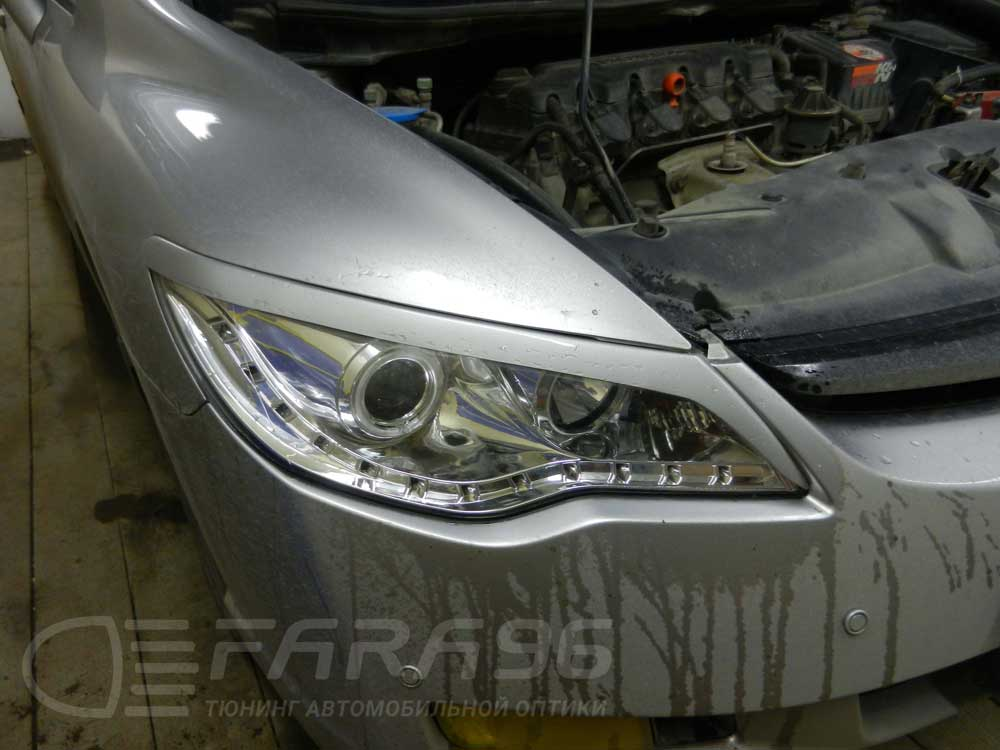 Honda Civic покраска фар